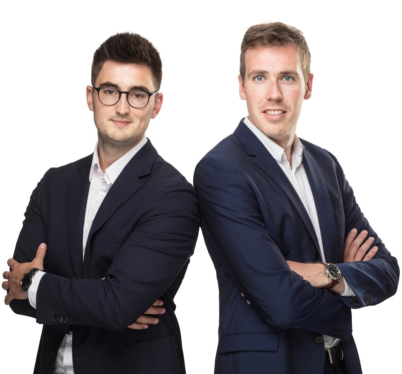 Roel en Giel, medewerkers van Ondernemingscoach bvba